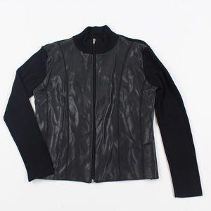 White House Black Market Mock Neck Jacket Size L
